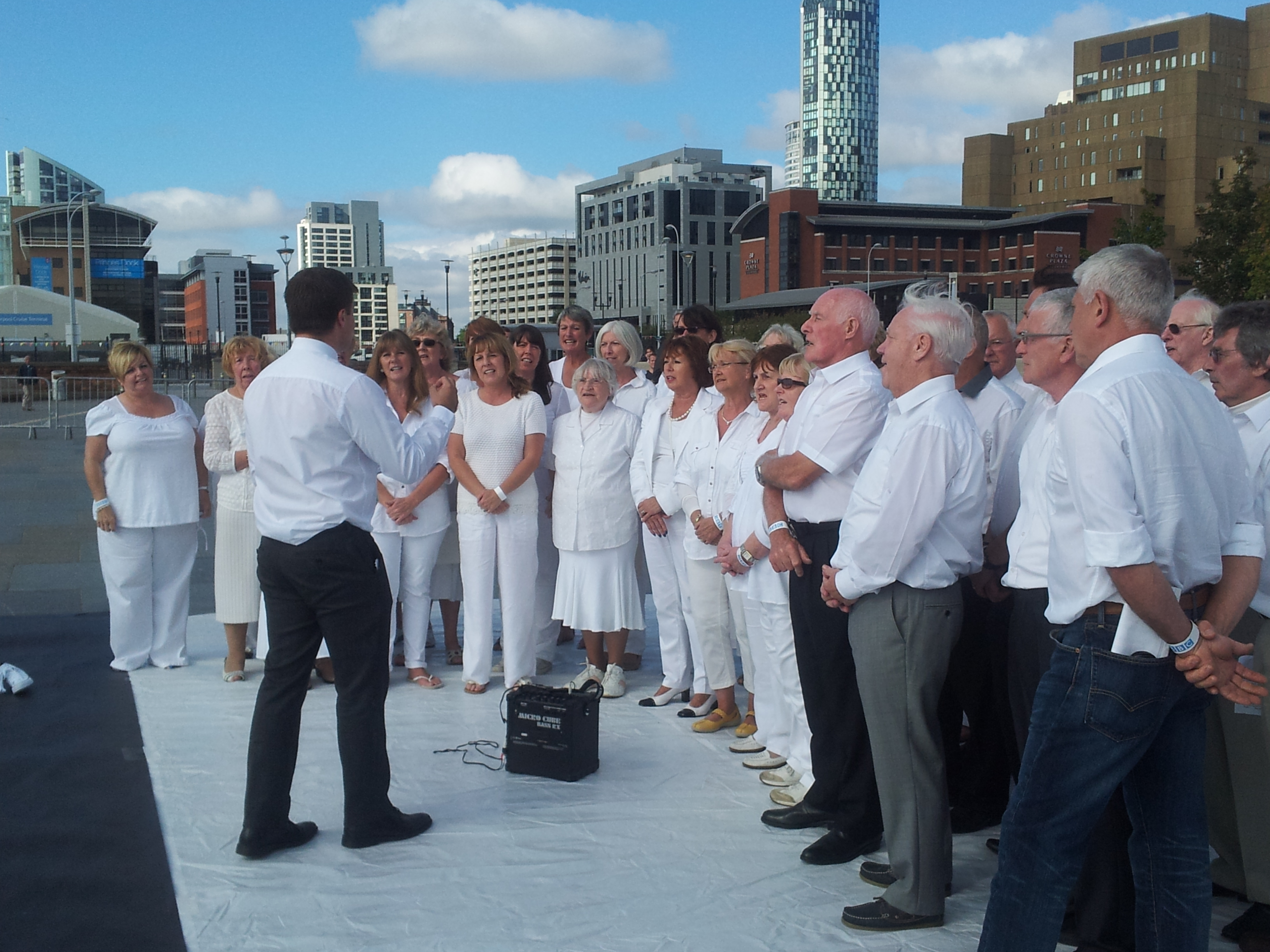 Mersey Wave Choir Performing at the Merseyside Mondrian